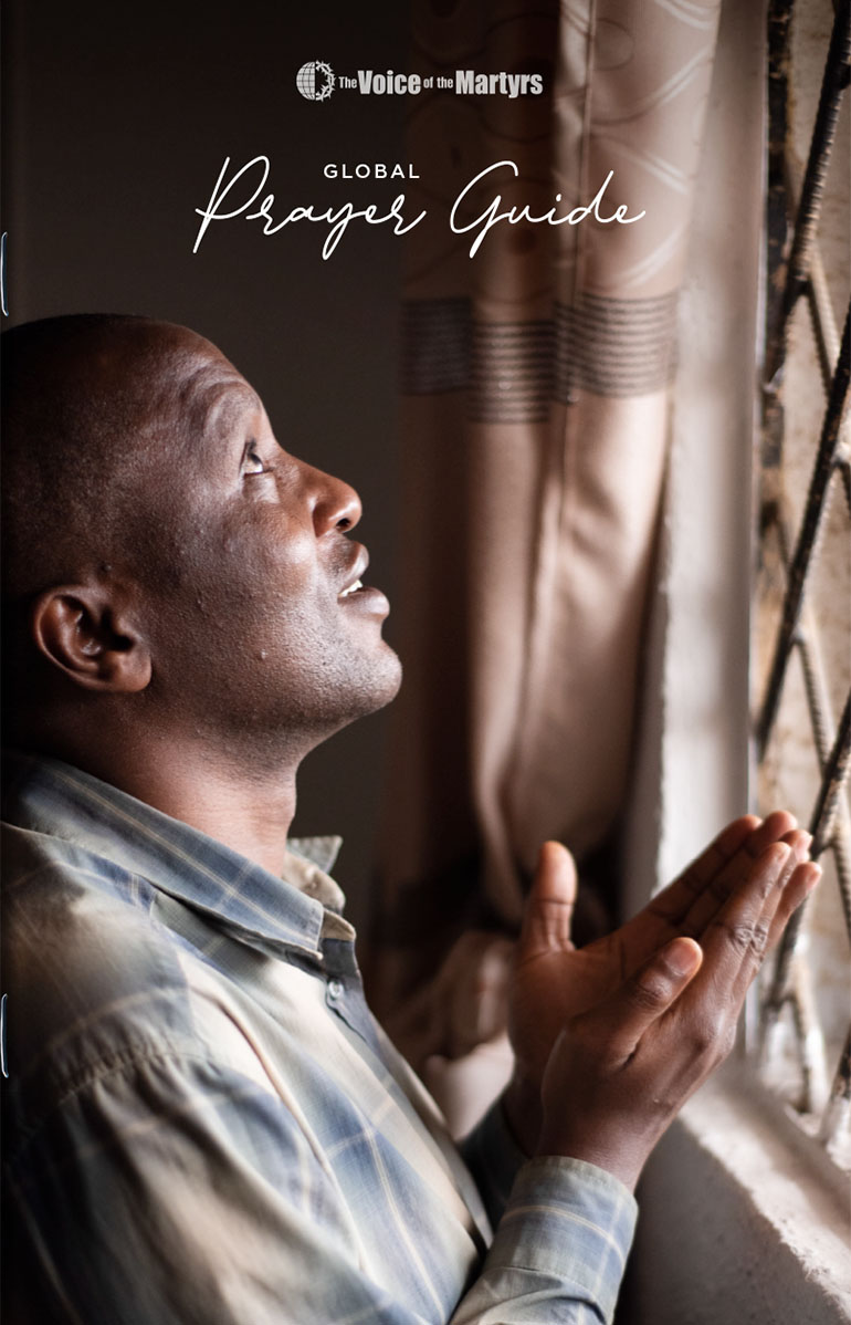 Front cover of prayer guide