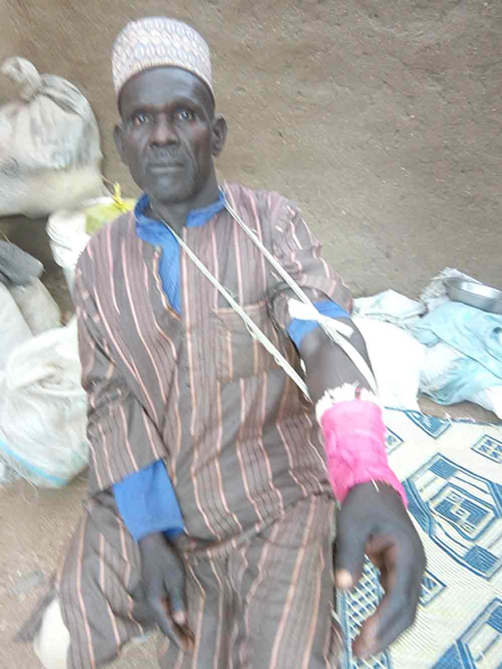 This pastor was injured as he fended off attackers.
