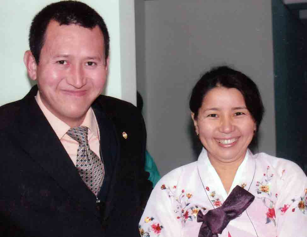 Pastor Bakhrom and Gulnora Kholmatov before his imprisonment.