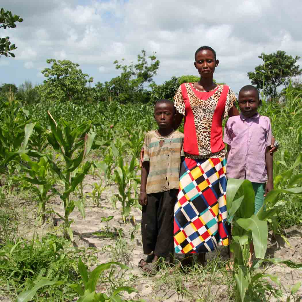 Naomi recovered enough after the death of her husband to continue to farm her land.