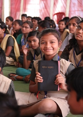 VOM provides Bibles to children in India to help them grow in their faith and be ready to face persecution.