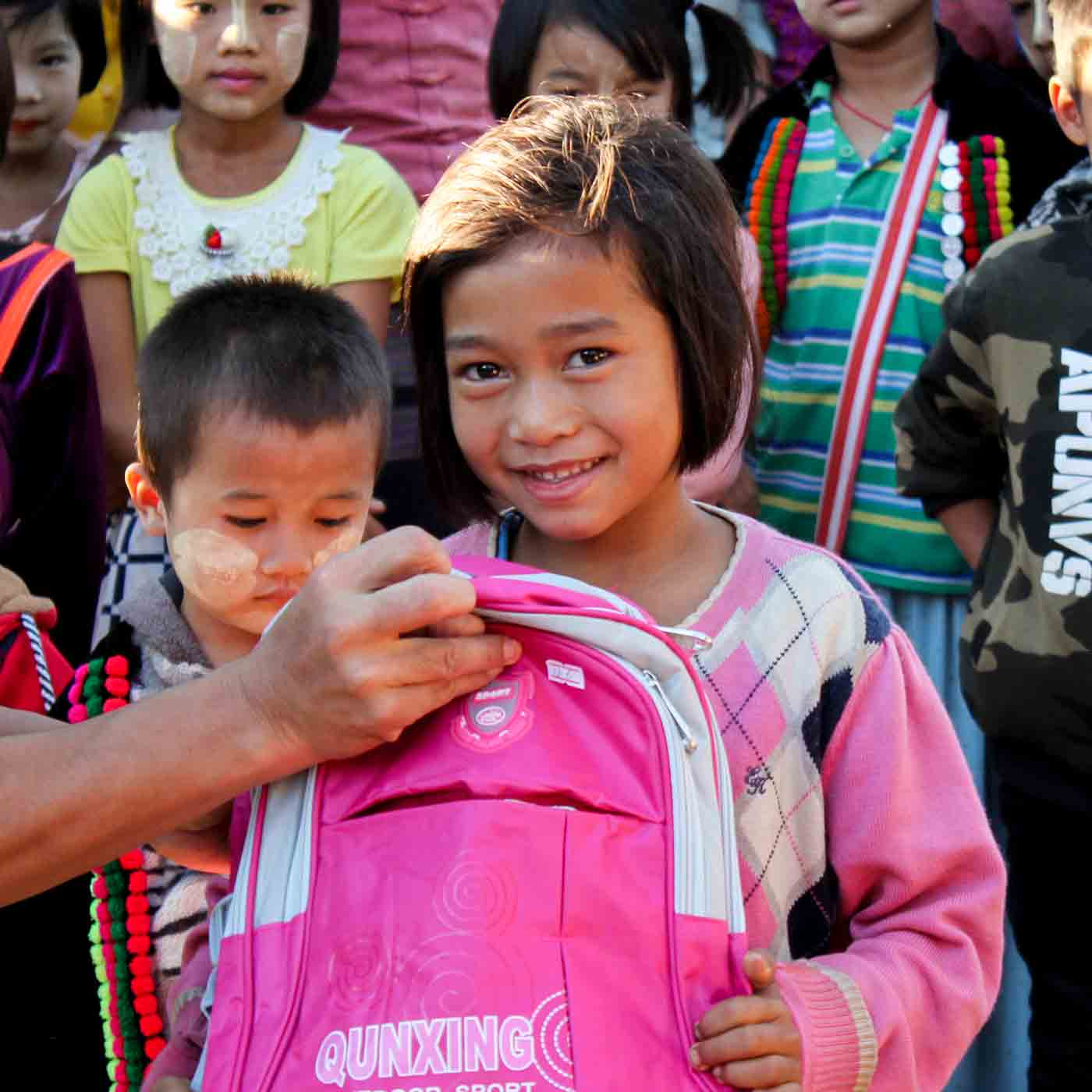 VOM serves children in Myanmar with the gift of Christmas Care packs.