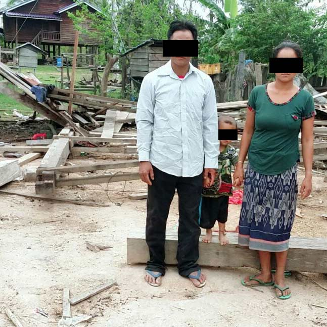 This Christian couple's home was torn down by villagers who didn't want them there.