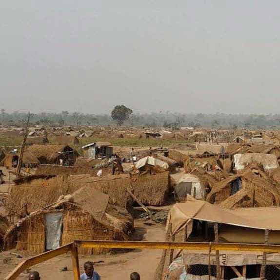 Many of those who fled have ended up in refugee camps like this one. (Photo: World Watch Monitor)