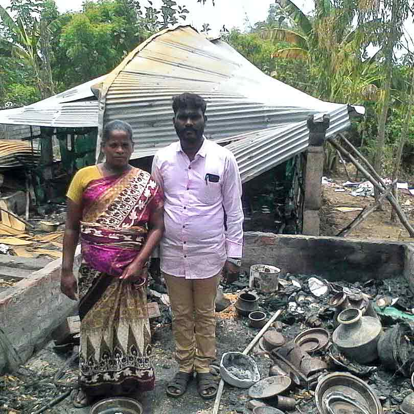 Hindu activists also burned down the house and church of this Indian pastor.
