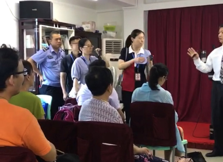 Authorities arrested Pastor Huang Xiaoning mid-sermon. (Photo: China Aid)