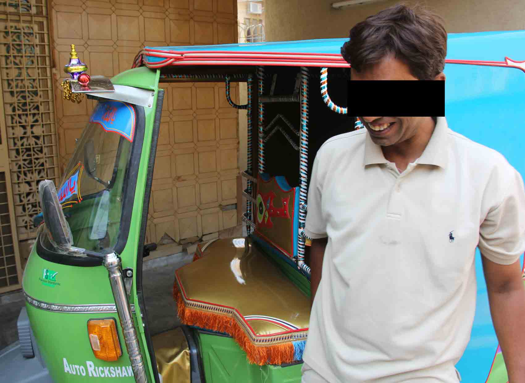 Ma'ruf was thankful for the gift of a rickshaw to help support his family.