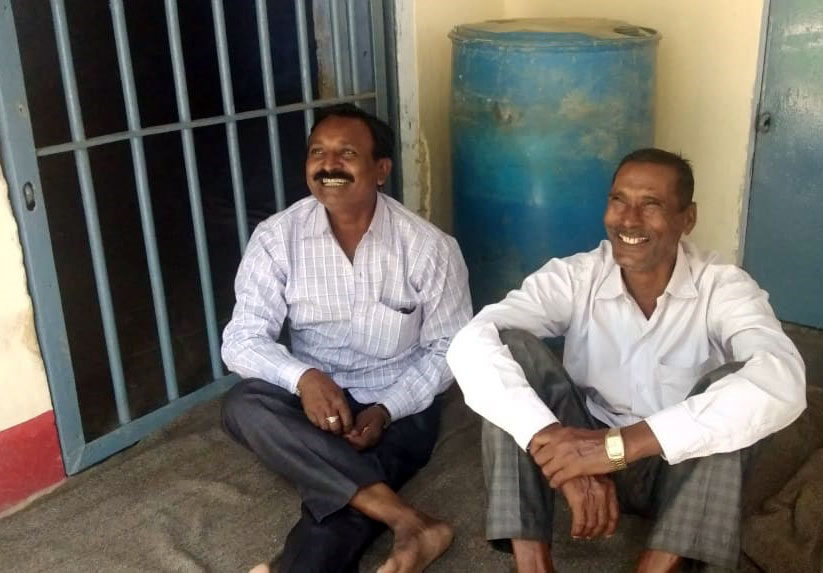 Two of the pastors arrested remained joyful.