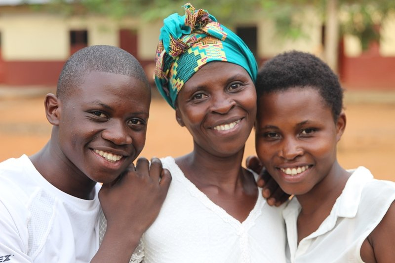 Doreka and her children are happier now in their own home.