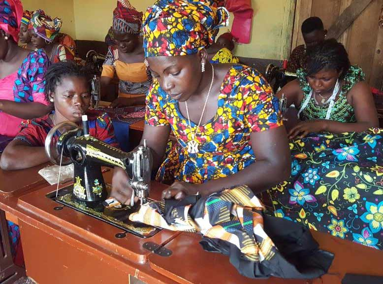 Learning a trade will help these women provide for their families.