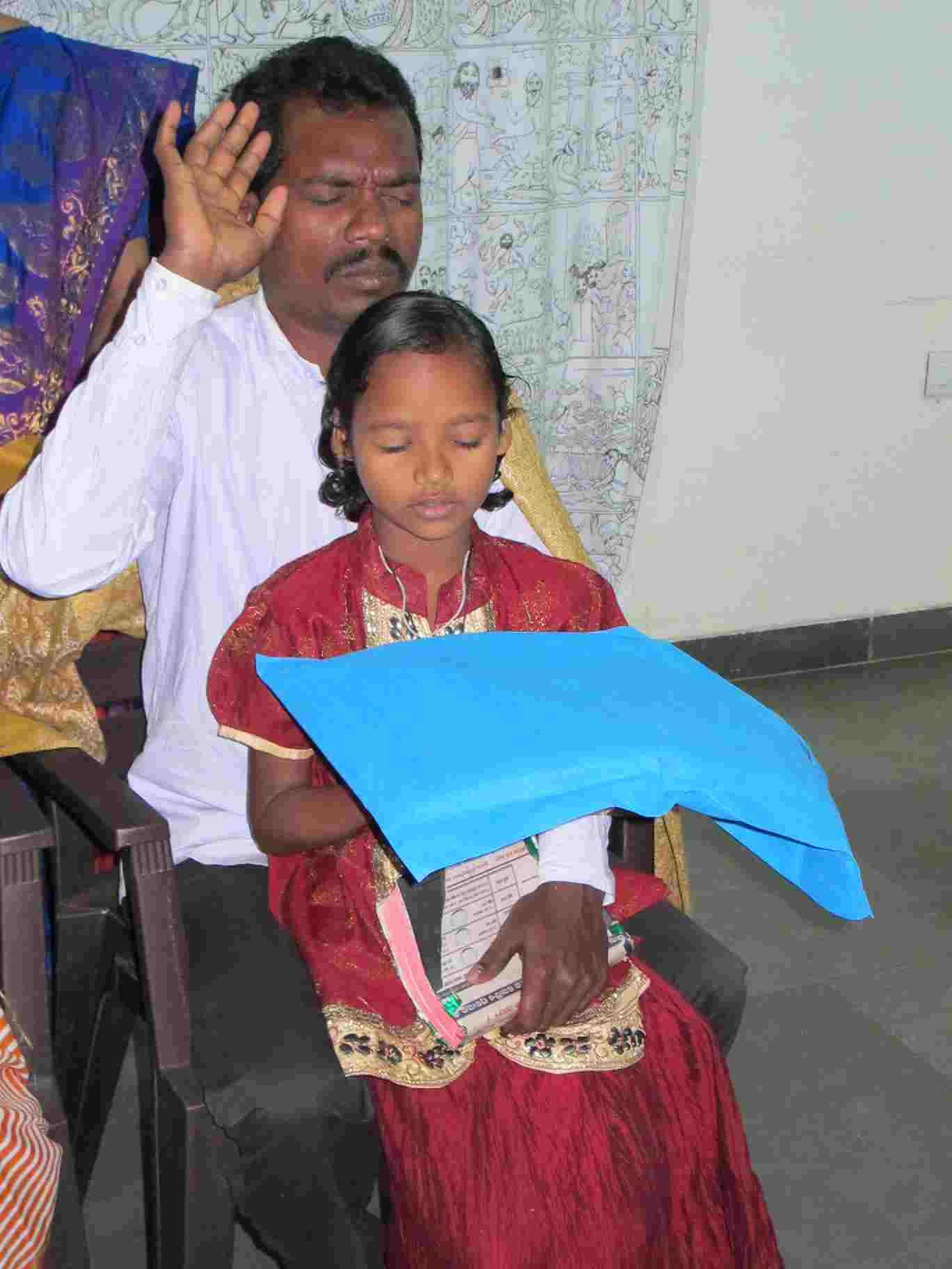Anjali's pastor father was also killed by Naxalites in Odisha state.