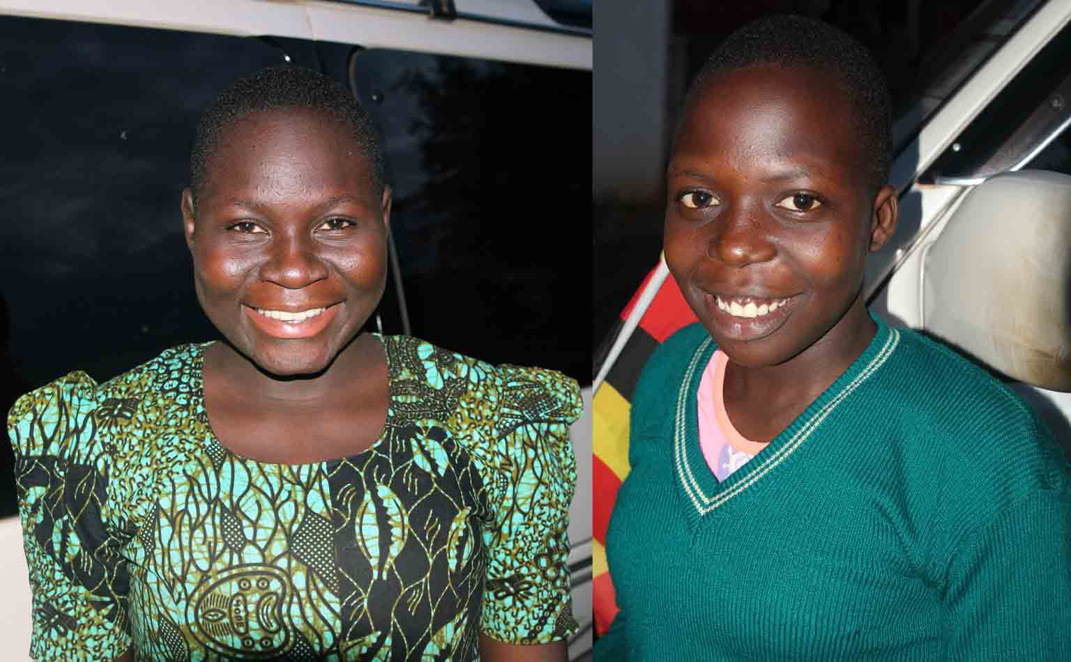 Nasira (left) and Hanifah (right) worry about their mothers, who they left behind.