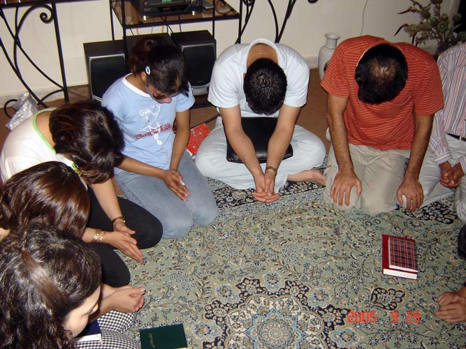 Christians in Iran meet in small cell groups secretly in homes.