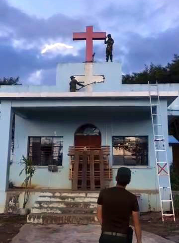 The Wa Army destroyed churches in the region in 2018.
