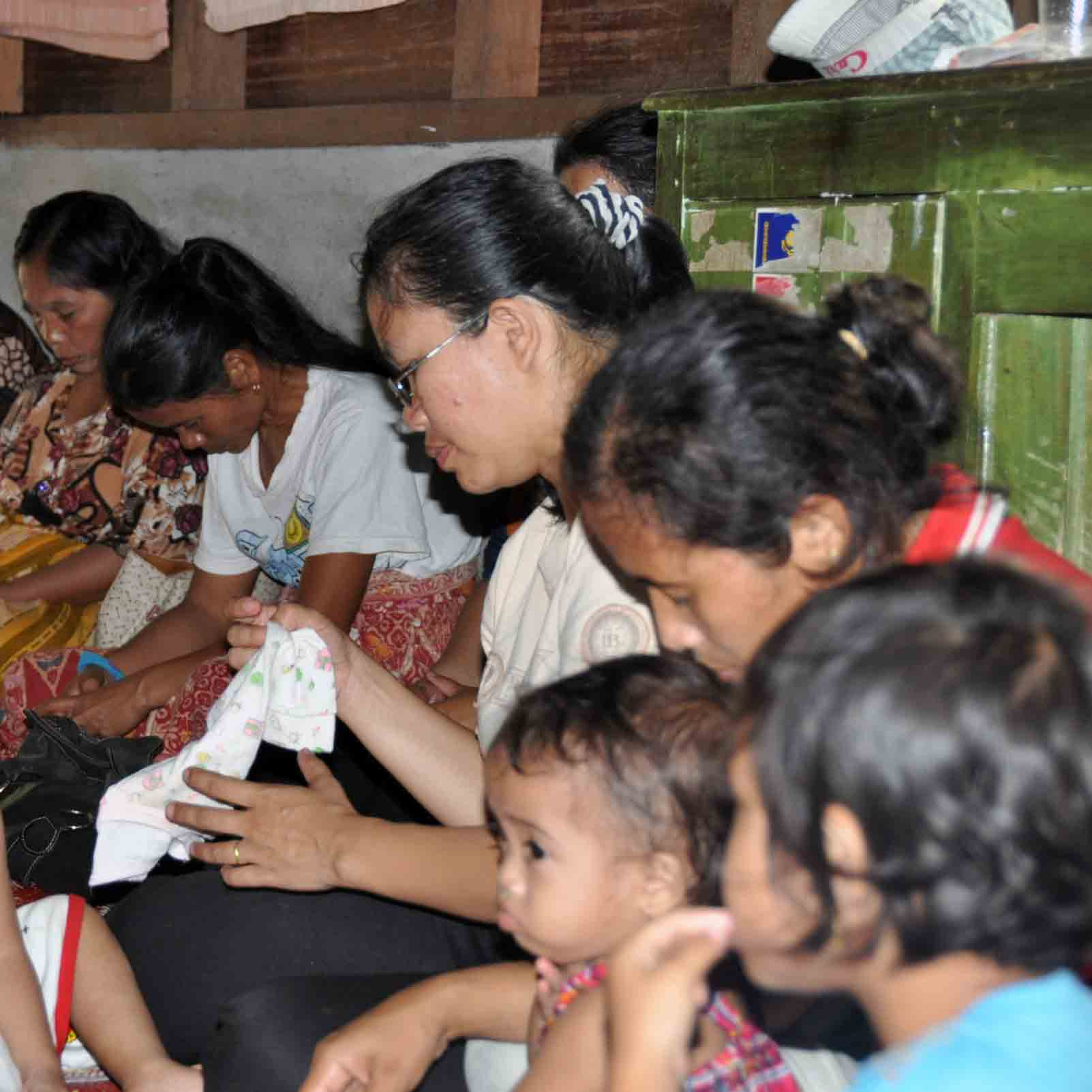 Christians in Indonesia gather in a house church meeting.