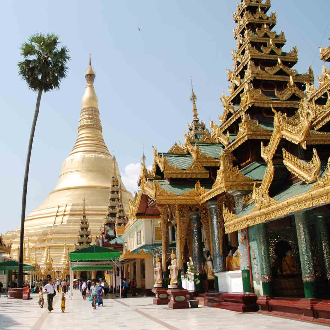 Buddhism has a strong hold in Myanmar.