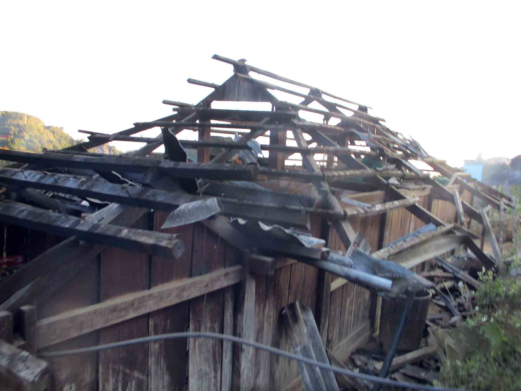 Angry relatives destroyed their house while the Christian family was gone.