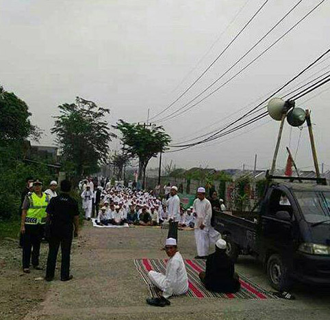 Islamists protest Christian churches in Indonesia.