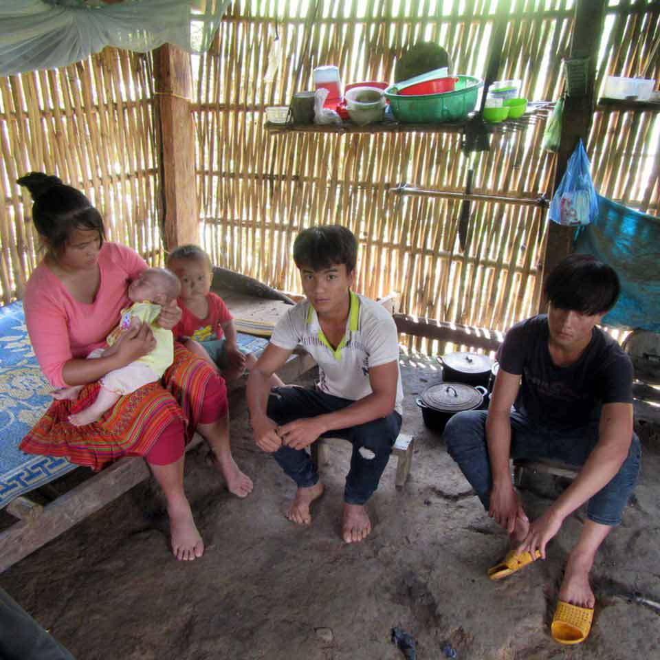 This family of 5 were displaced from their home.