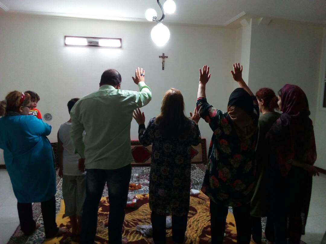 Iranians worship in a house church.