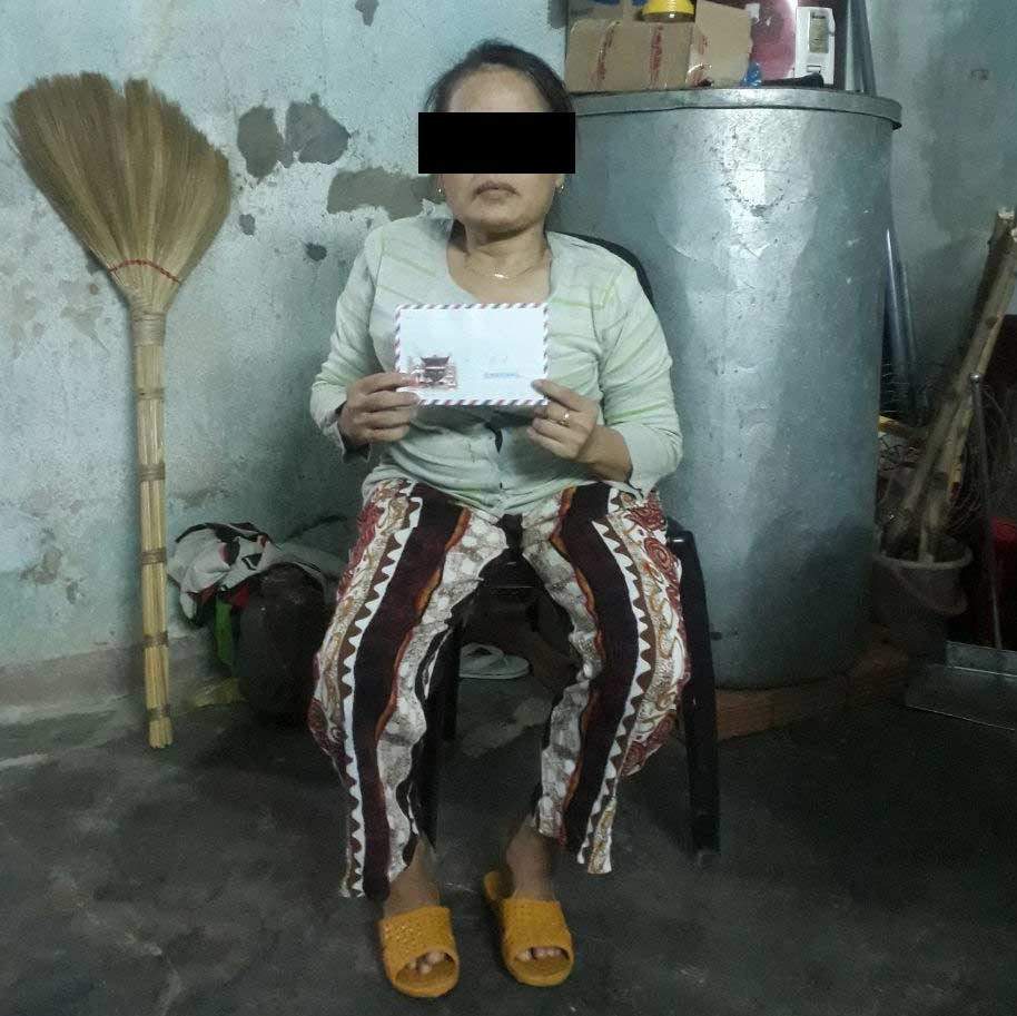 Dinh suffered major burns on her legs, requiring hospital treatment.
