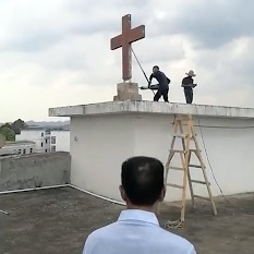 Officials removed two more crosses from two churches in Wenzhou.