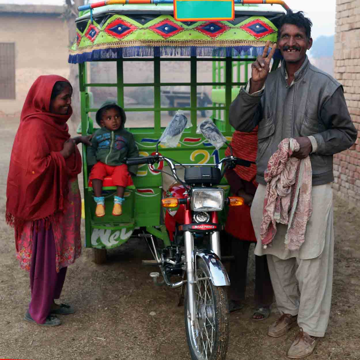 Hamza and his family will now operate a rickshaw business.