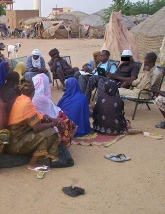 Senegalese people meet together to discuss the Bible
