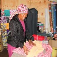 """Sharon"" is receving help with her tailoring business in Kenya after her husband, a Christian, was killed in an attack."