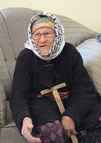 Miriam is the only Christian left in her Iraqi village and is being looked after by Kurdish neighbors and the local church
