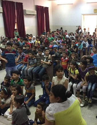 Christians lead a children's ministry to refugee children in the Middle East