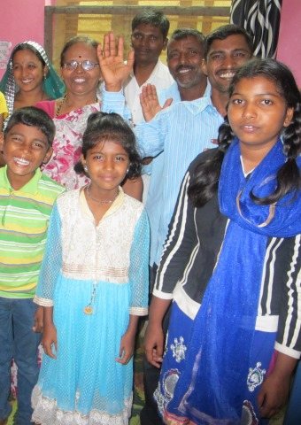 Some of the Christian families in India who were kicked out of their Hindu village for refusing to pay for a festival.