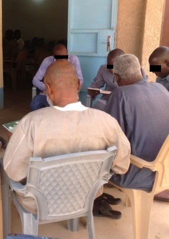 This group of church planters and pastors meet together in Niger.