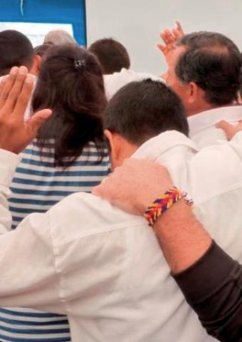 Christians worshiping together in Colombia