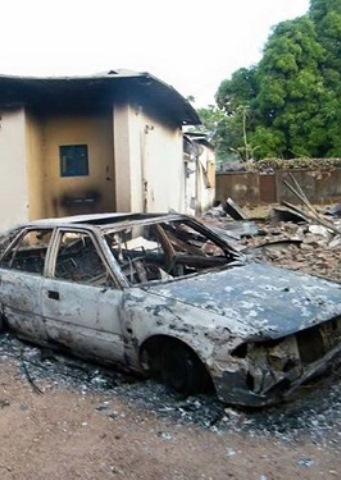 Attackers burned churches and other property. [World Watch Monitor]
