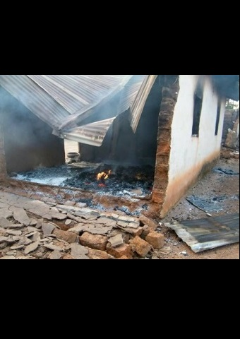 Fire was set during an attack against Christians in Nigeria (Photo: World Watch Monitor).