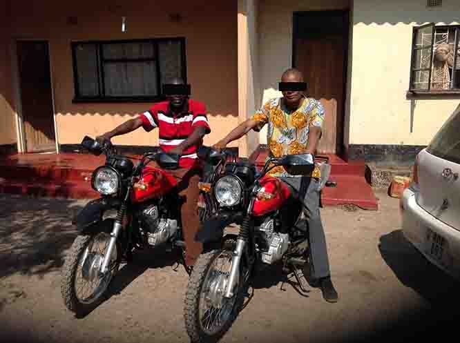 VOM provided these Front Line workers with motorbikes to help them move around more efficiently.