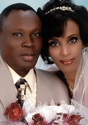 The wedding photo of Meriam Ibrahim and Daniel Wani. (Photo credit: Gabriel Wani)